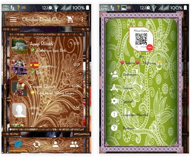 BBM Mod Droid Chat! v4.7.10 - Tema Batik