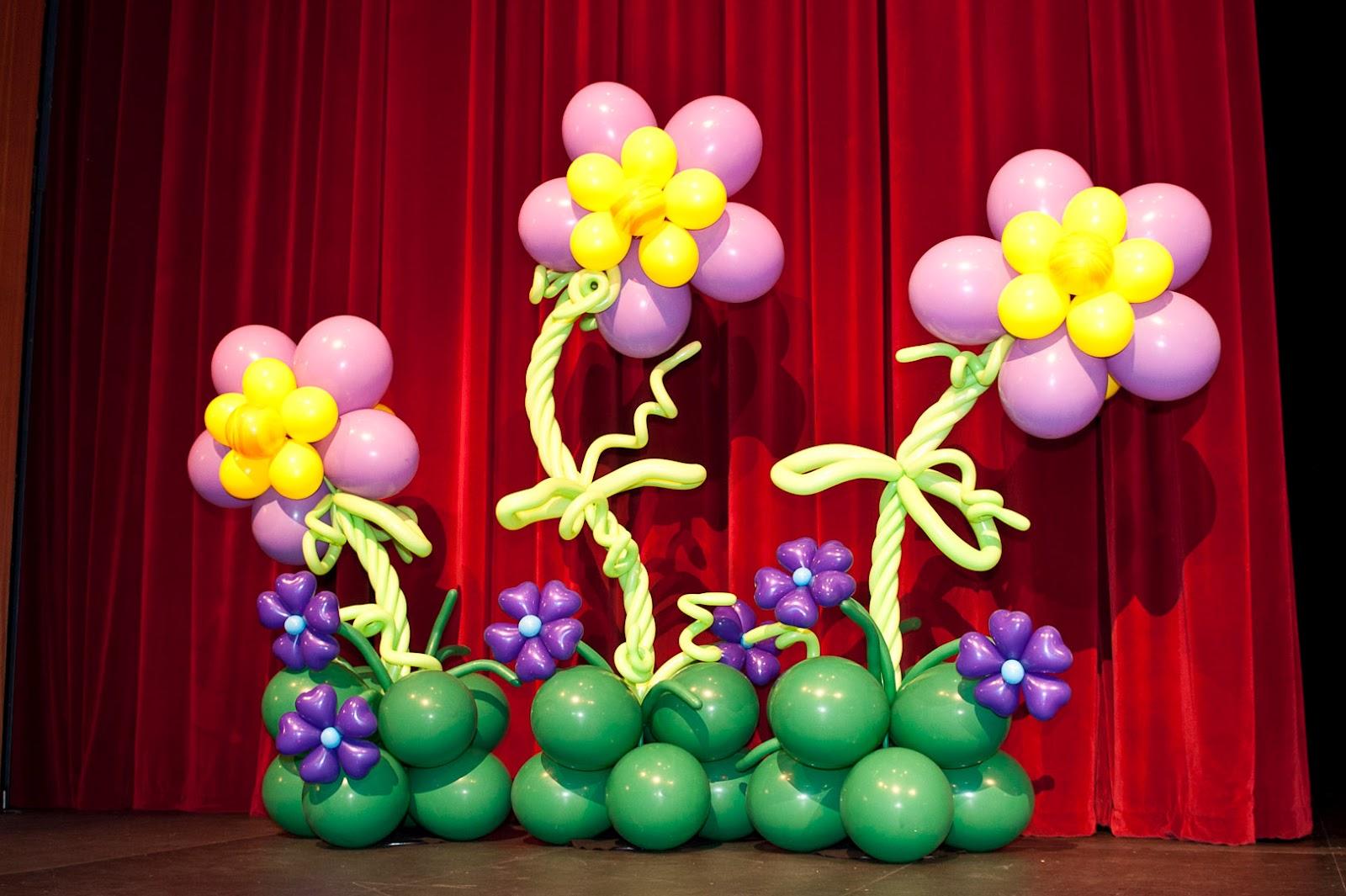 Como Hacer Flores Con Globos Para Una Fiesta Fiestas Infantiles - Como-hacer-flores-de-globos