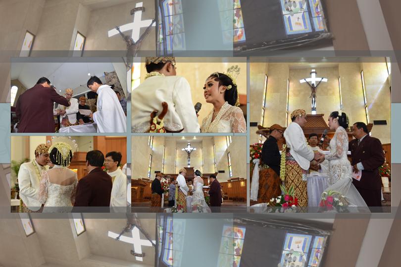 foto candid pemberkatan nikah