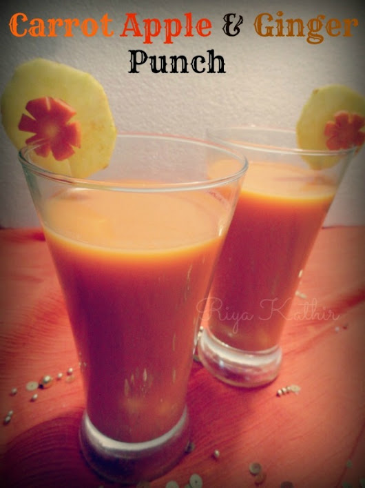A Colorful Butterfly: Juicy Friday - Carrot, Apple & Ginger Punch