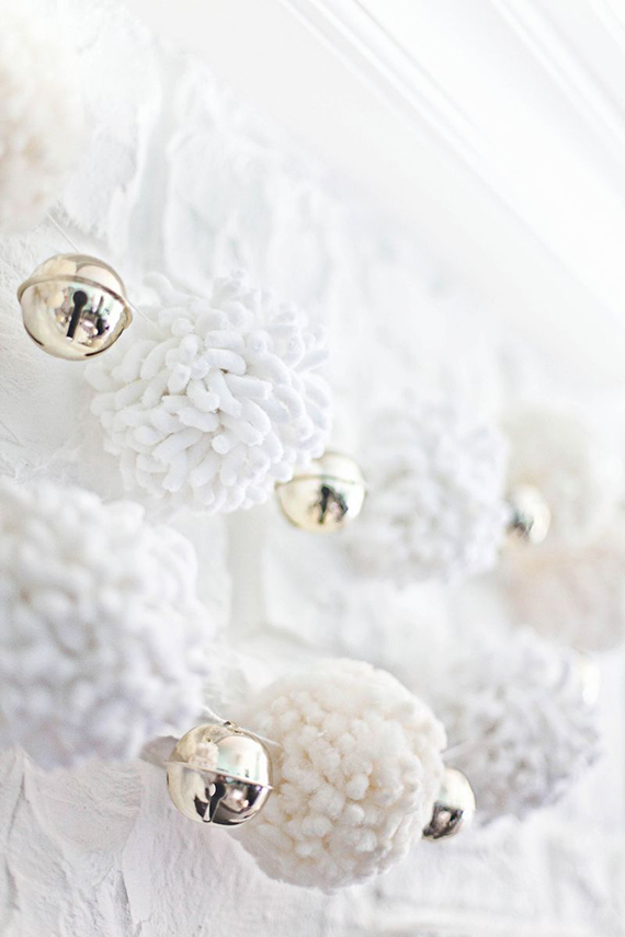Giant pom pom garland diy by A Beautiful Mess