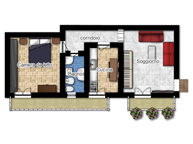 La casa in vetrina soluzioni salvaspazio creare una for Planimetria appartamento