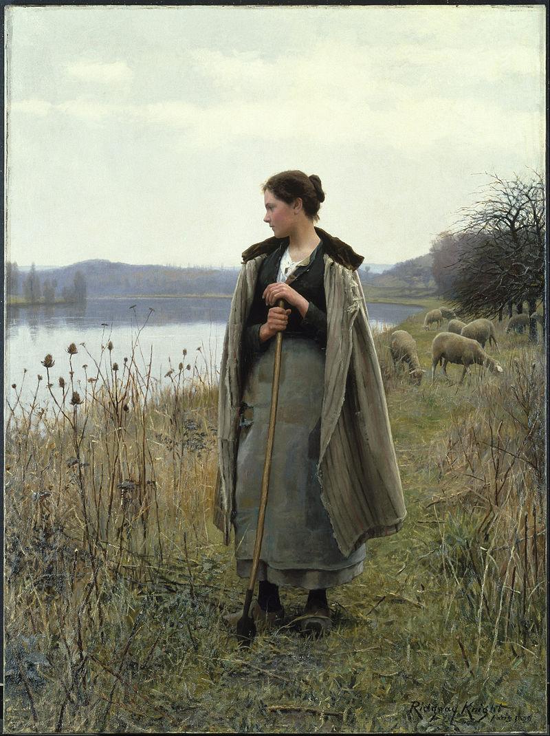 A Pastora de Rolleboise - Daniel Ridgway Knight e suas mais belas pinturas