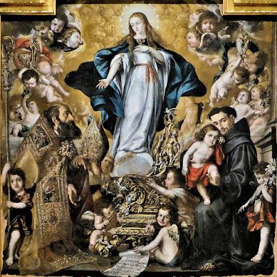 Inmaculada con San Antonio y San Eloy o La Virgen de los Plateros - Juan de Valdés Leal - 1654-56 - Museo de Bellas Artes de Córdoba