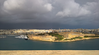 View from Hastings Garden La Valletta toward Manoel Island.
