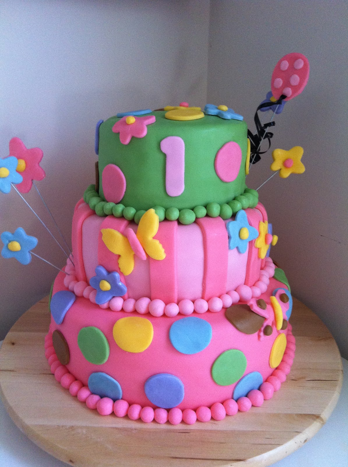Girly Birthday Cake Designs