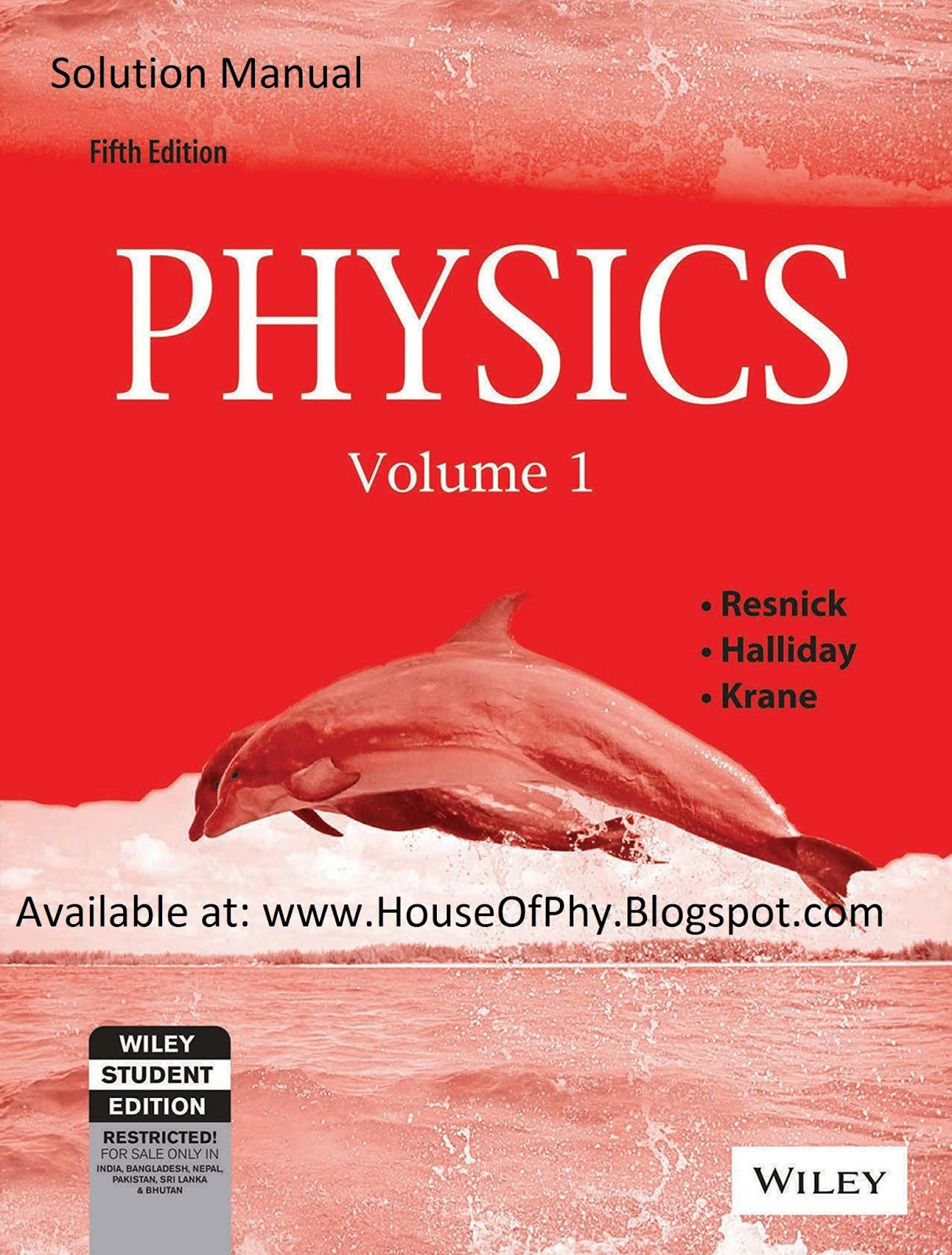 Solution Manual of Physics by Halliday, Resnick, Krane Volume 1