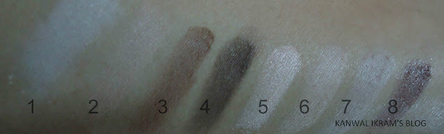 Essence All About Nude Eye Palette Swatches Without Light