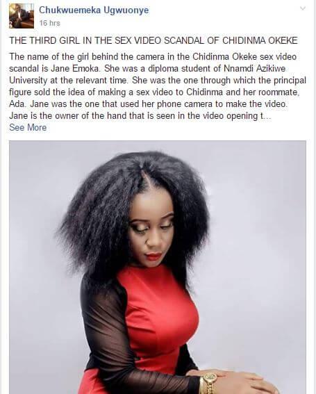 Lady Behind Miss Anambra Cucumber Sextape, Jane Emoka: Her Lesbian Sextape Just Leaked