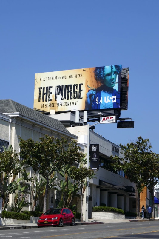 The Purge TV series billboard