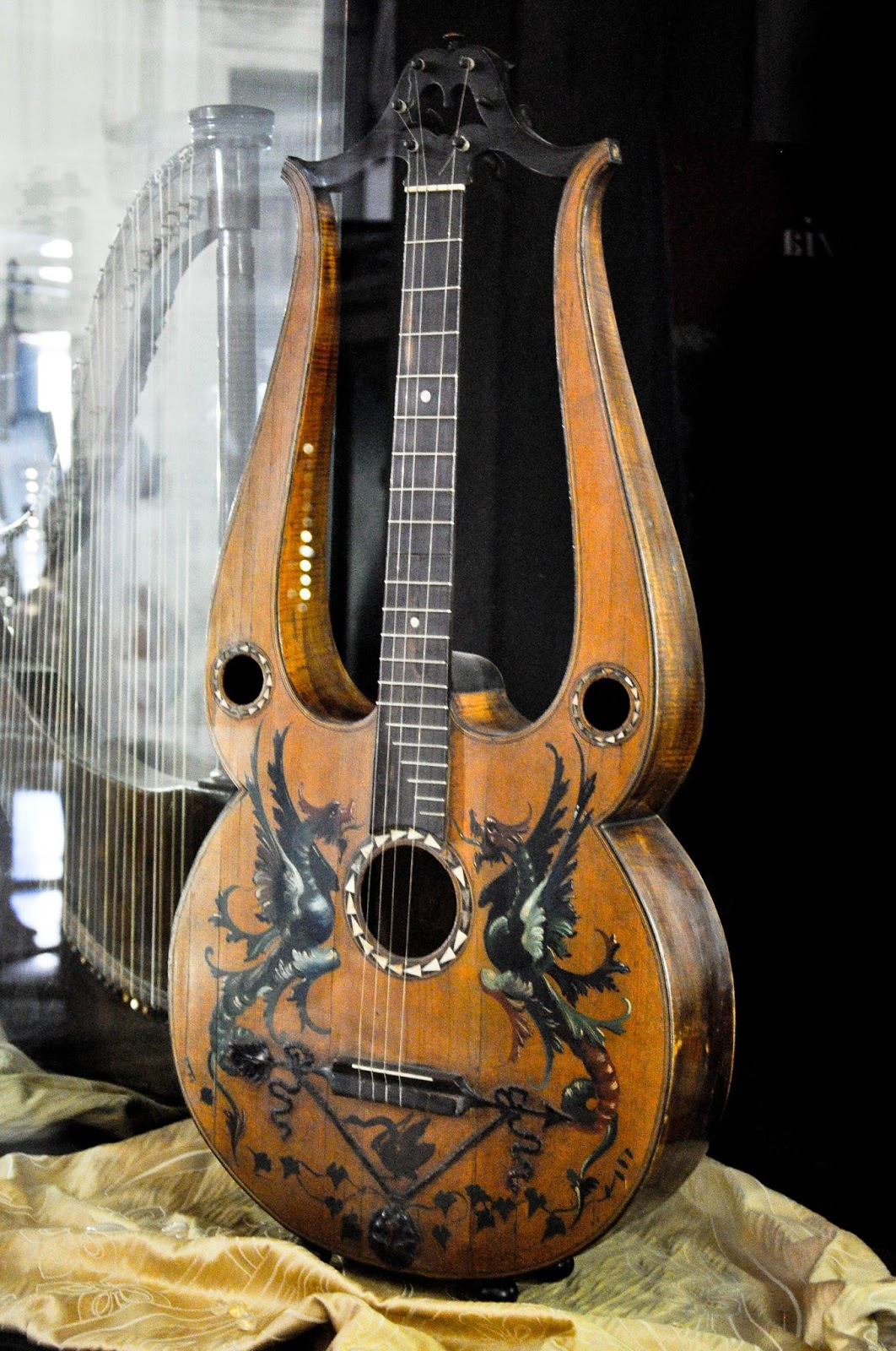 Guitar lyra from 1815, Museum of the Music, Venice, Italy