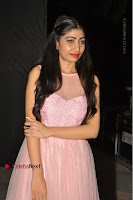 Actress Nidhisha Reddy Pos in Beautiful Pink Dress at Virus Telugu Movie Audio Launch .COM 0052.JPG