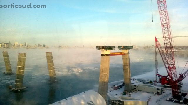 Nouveau Pont Champlain hiver