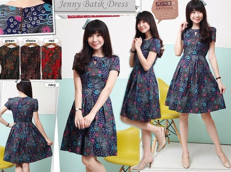 Jual Baju Batik Jenny Batik Dress - 12733