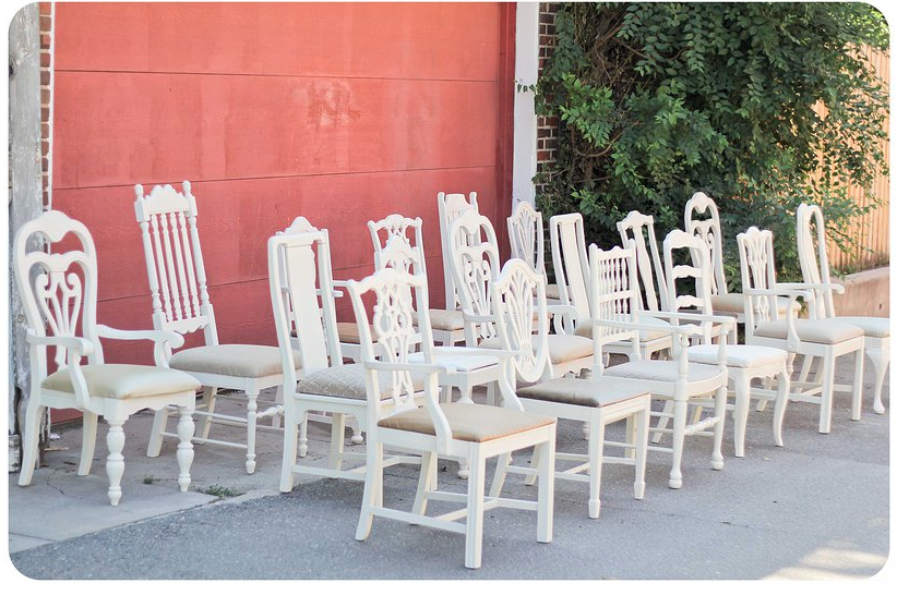 CALLUNA EVENTS: Chairished: Vintage Chair Rentals