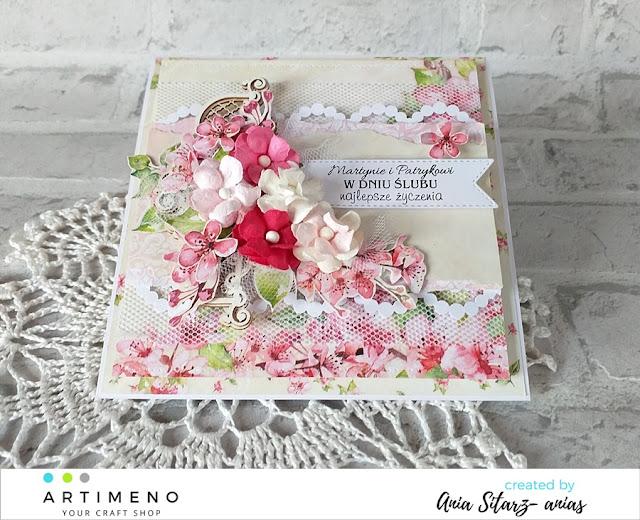 kompozycje kwiatowe na kartkach