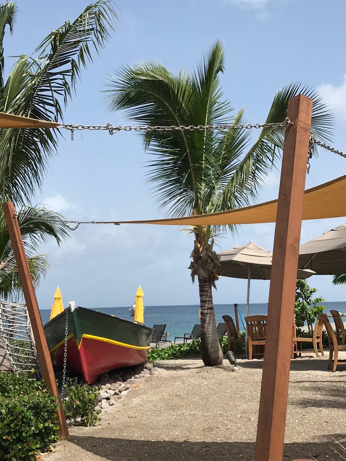 a beach bar on Nevis Island