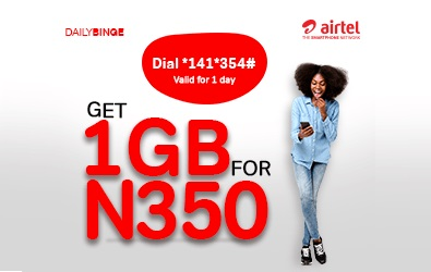 How To Get 1Gig For ₦350 And 2Gigs for ₦500 In The Airtel Binge Plan