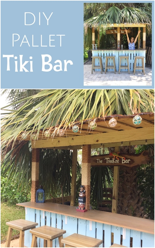 How to Build a Pallet Wood Tiki Bar for the Backyard