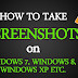 How To Take ScreenShot On Laptop, Win7,Win8,Win10,And Xp