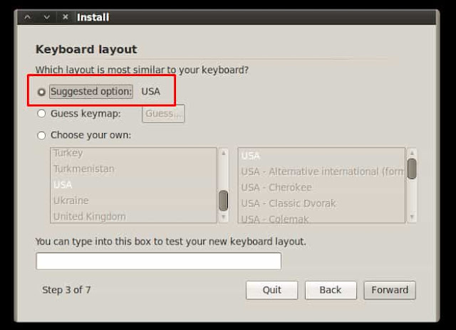 pemilihan keyboard layout di backtrack