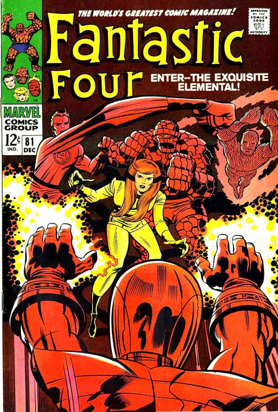 Fantastc Four v1 #81 marvel 1960s silver age comic book cover art by Jack Kirby