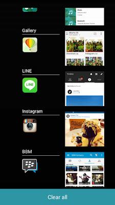Recent Apps List