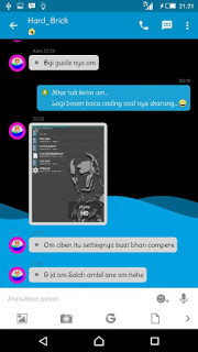 BBM Mod Blue Wave Full Features Update Apk for Android Terbaru