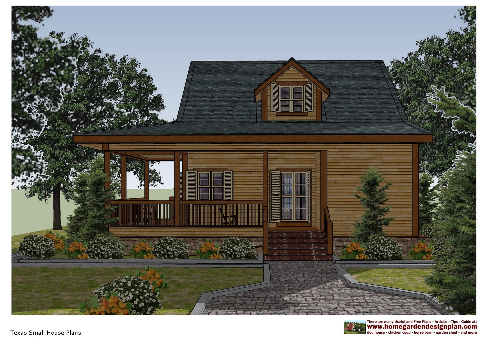 Home garden plans sh100 small house plans small house for South texas house plans