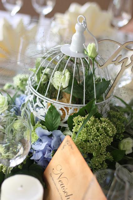 Flowers in bird cage center pieces Birdcage vintage wedding - Irish wedding in Bavaria, Riessersee Hotel Garmisch-Partenkirchen, wedding venue abroad