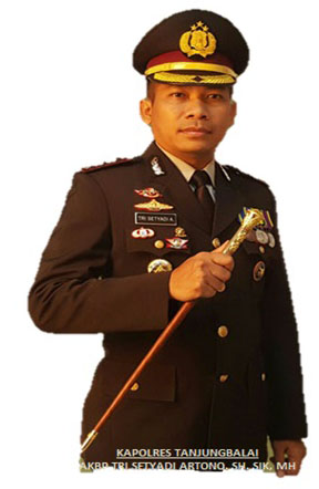 Kapolres Tanjungbalai  AKBP Tri Styadi Artono