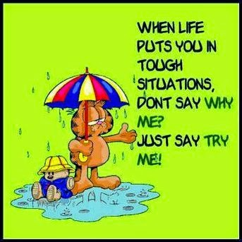 Tri Cities On A Dime Thought For The Day Garfield Wisdom About Tough Situations