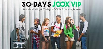 Cara Mendapatkan Joox VIP Gratis 30 Hari
