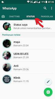 cara blokir status orang di whastapp