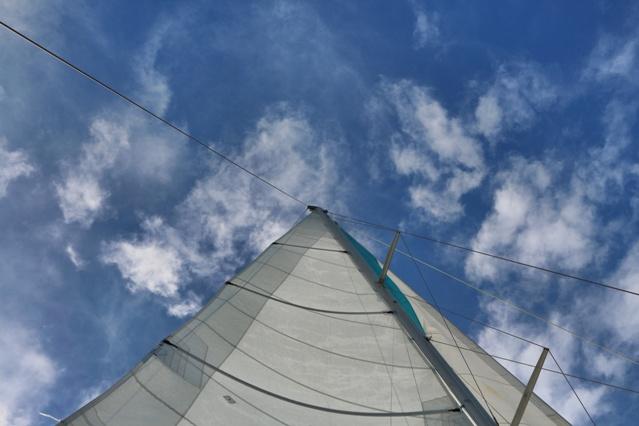 Un gustazo la navegación en el catamarán