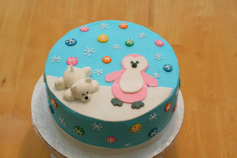 Jo S Cakes Penguin Polar Bear Pair