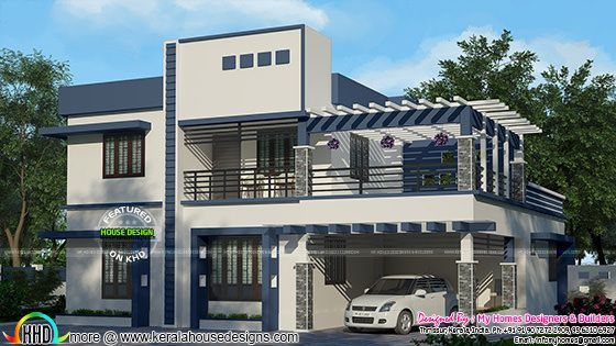 2675 sq-ft modern mix house plan