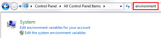 set environment variable on windows