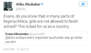 See Atiku Abubakar's reply to a man who called on thunder to fire him