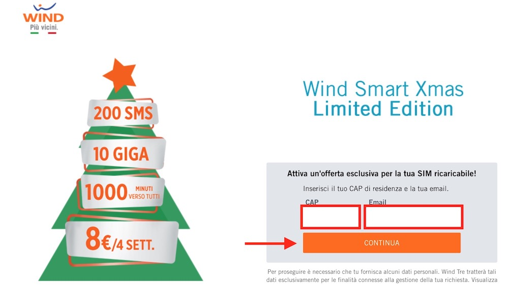 Come attivare Wind Smart Xmas 2017