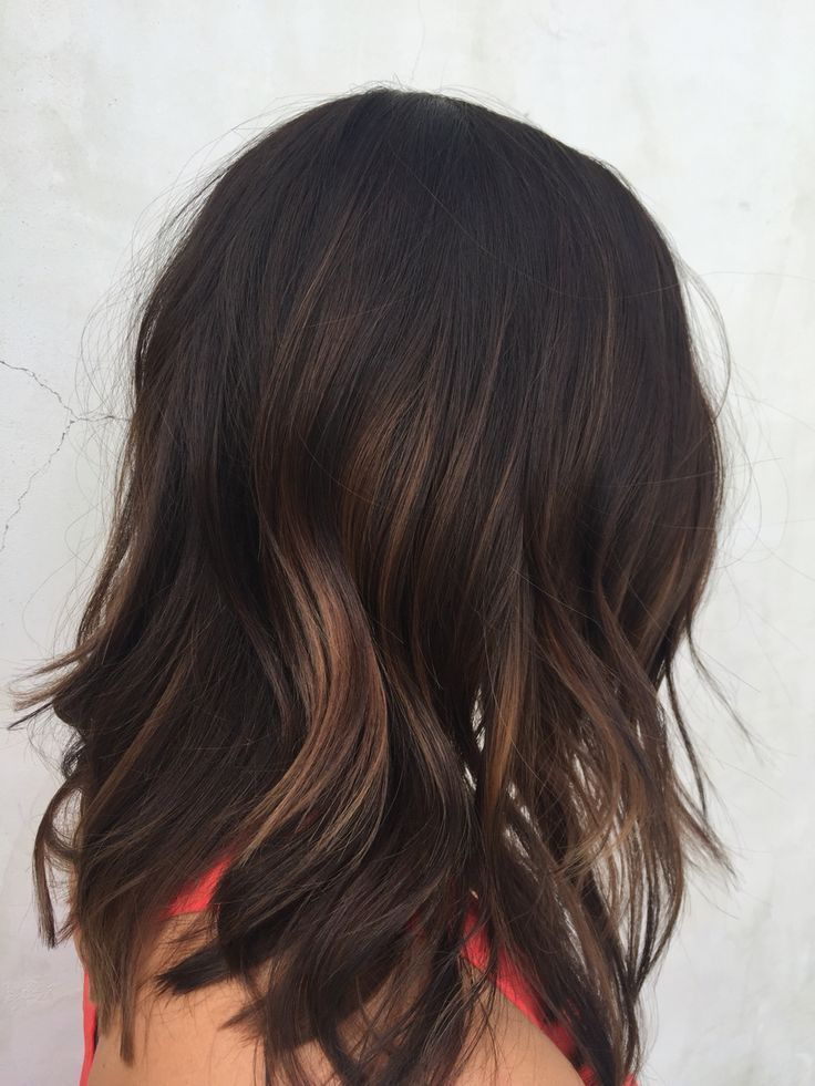 10 Ideas To Spark Your Dark Hair Color - Hair Fashion Online