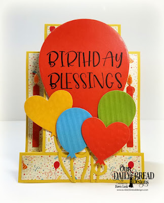 Our Daily Bread Designs Stamp Set: Big Birthday Bolds, Custom Dies: Big Balloon, Birthday Balloons, Birthday Candles, Center Step Card, Center Step Layers, Paper Collections: Birthday Bash, Birthday Brights