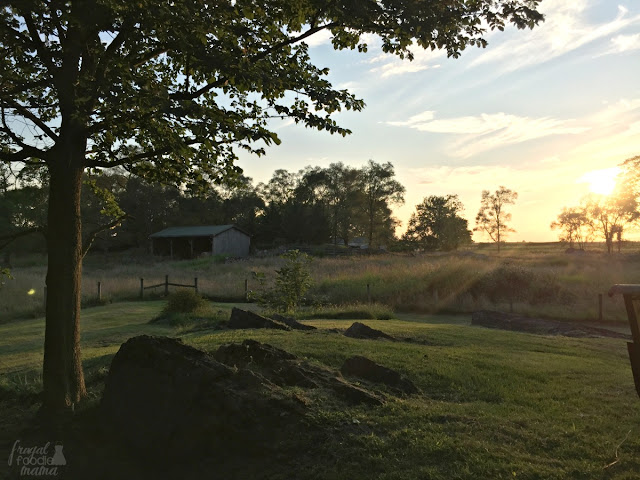 The Farmhouse and the Hawthorn House at Hillbrook Inn & Spa are both known for their breathtaking views of the sunset.