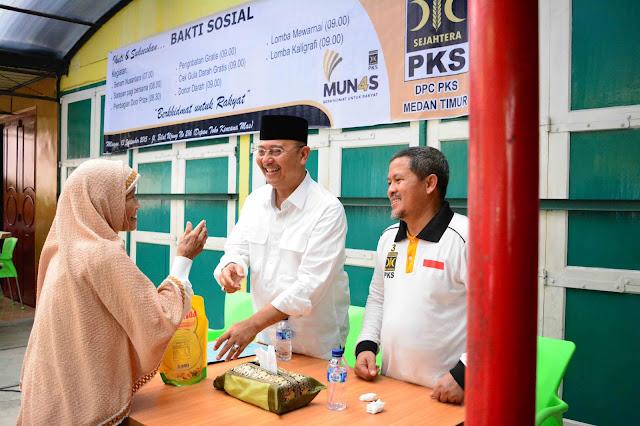 Bang Eldin : PKS Selalu Bekerja Bersama Masyarakat