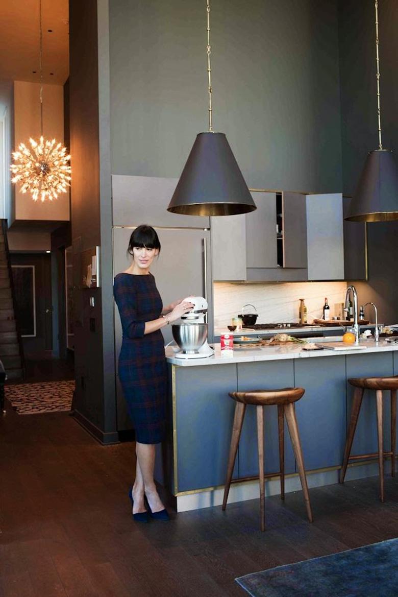 Granatowe fronty kuchenne - inspiracja kuchenna
