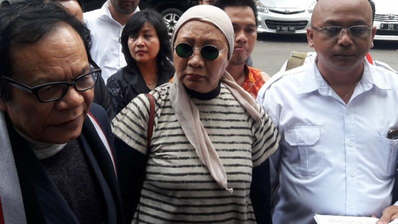 Ratna Sarumpaet saat di Polda Metro Jaya