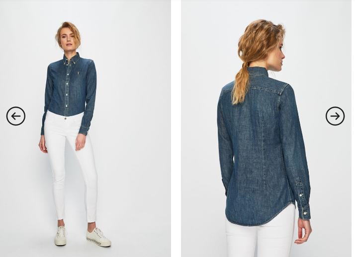 Polo Ralph Lauren - Camasa dama originala din denim albastru inchis
