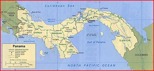 Gambar Peta politik Panama