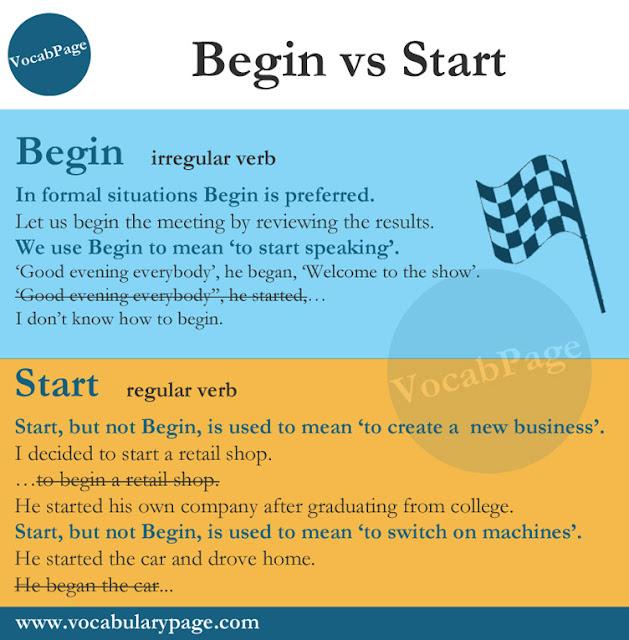 Begin or Start