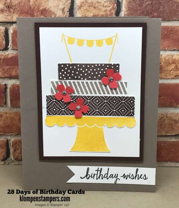 28 Days Of Birthday Cards Day 8 Klompen Stampers